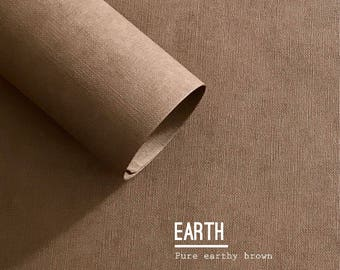 Hand made textured wrapping paper - earth