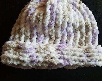 Purple childrens beanie