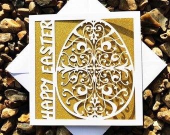 Easter Egg Card, Happy Easter, Easter Cards, Lasercut Easter Cards, Easter Gifts,