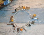 Orange is the new Black Themed charm bracelet  OITNB gift Prison themed Jewellery gift for her