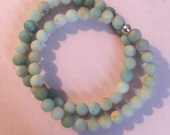 1 Amazonite beaded bracelet