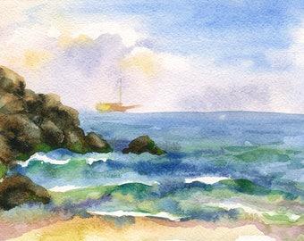 Landscape Original Watercolour Painting Q96