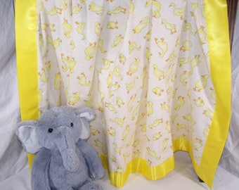 Ducks Geese Duck Infant/Toddler/Baby Cotton Flannel Blanket with Satin Trim 42x42 Girl Boy