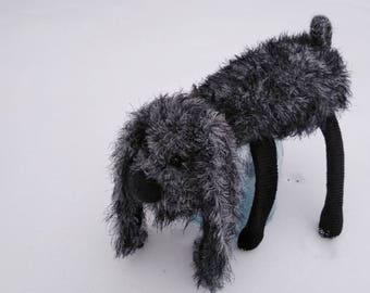 "Textile doll ""Shaggy Dog"", Handmade Dog, Textile Dog, Funny Dog, Interior doll of Dog, Collectible Dog."