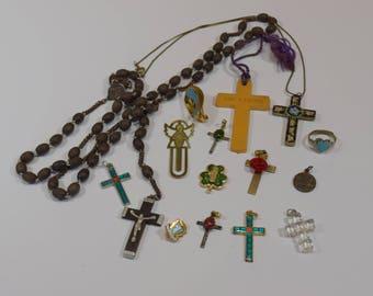 Vintage Lot Religious Crosses