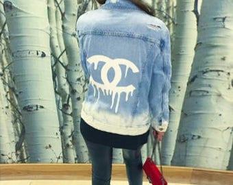 Chanel Influenced Vintage Jean Jacket