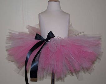 Multi colored pink tulle skirt infant 0-6 months