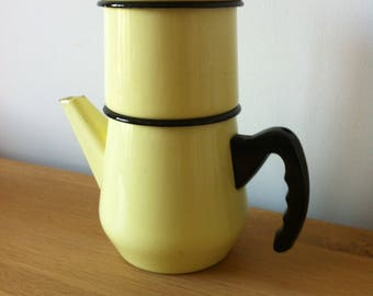 Vintage 50s enamel coffee pot