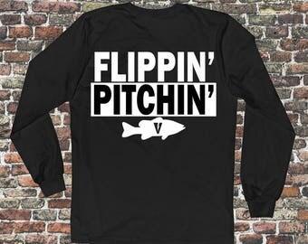 Flippin' and Pitchin' bass fishing shirt