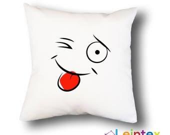 Pillowcase cushion cover 40x40 smiley No12