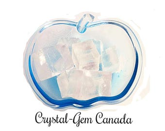 2 (two) beautiful raw Clear Calcite, Decoration Stones, - Gemstone for psychic vision and energy flow. Gemstone infused w Reiki