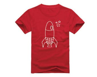 Rocket Ship T-Shirt for children - available in many sizes and colors