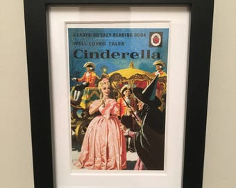 Retro Ladybird Book cover. Cinderella