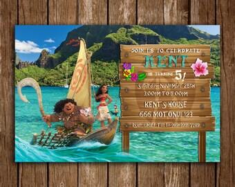 Moana Invitation, Moana Invite,  Moana Party, Moana Birthday Party, Moana Invitation Card, Moana Invite Party, Moana Digital File