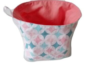 Diamond pattern fabric basket