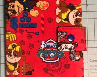 MADE TO ORDER Play Pack Activity Case / Travel Activity Pouch / Marker Pencil Pouch / Crayon Case / Pencil Pouch  - Paw Patrol