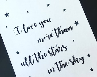 I Love You More Than All The Stars Framed Print