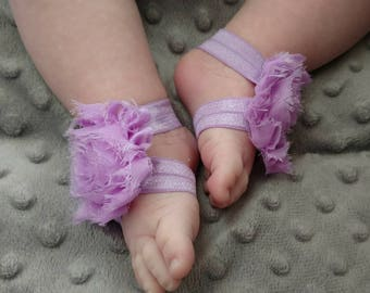 Light Purple Barefoot Baby Sandals