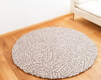 Baumwollteppich weiß  Teppich | Etsy