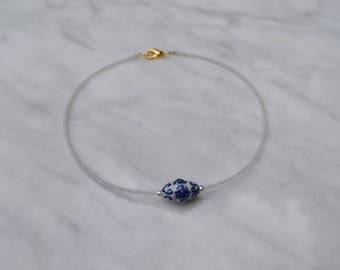 Chinaware Beaded Choker Necklace
