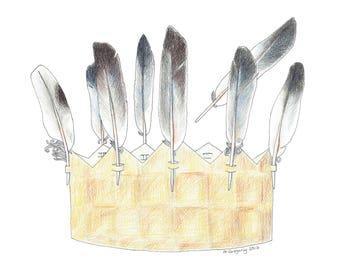 Crown - Original Hand Drawn Art