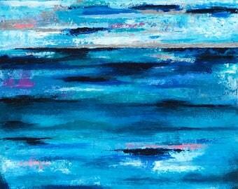 Sea Level II | Abstract Ocean Acrylic Original Art Painting