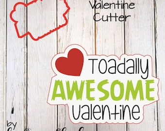 Toadally Awesome Valentine Cookie Cutter