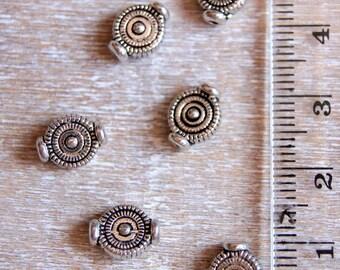 Round silver metal separator