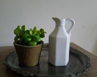 Vintage Small White Porcelain Pitcher