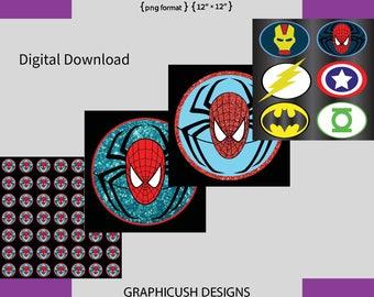 spider men png 4 files super hero boys 12'x12' GRAPHICUSH