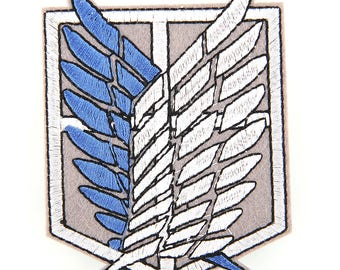 Attack on Titan Shingeki no Kyojin Scouting Legion Emblem Embroidered Patch