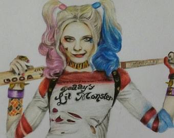 Harley Quinn Original Drawing
