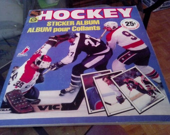 N.H.L. 81/82 Opee Chee Sticker Book Complete.