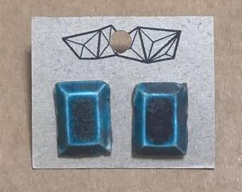 Baguette Cut Stud Earrings