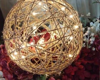 Globe Light, twine ball, twine ball light