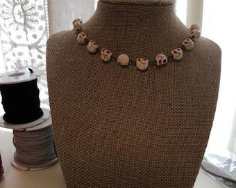 Skull rosary necklace!!