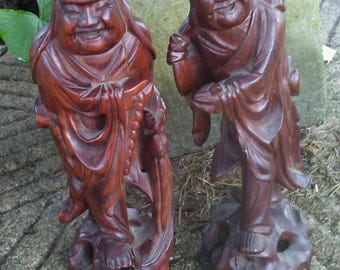 Buddha Rosewood Hand Carved Statues