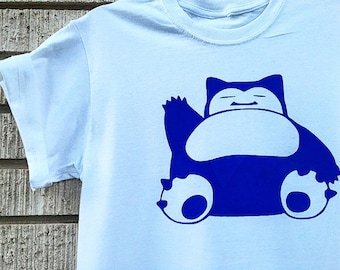 Pokemon Snorlax Shirt, Pokemon Go shirt,  Snorlax shirt, Pokemon Shirt