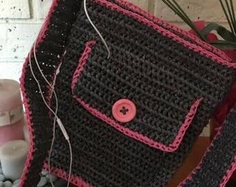 Hip Bag Style- Plarn Bag- Crochet Bag-Recycled Plastic bags