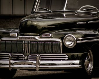 Classic Mercury Vintage Car Photograph