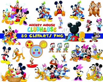 INSTANT DL- 80x Mickey Mouse Clubhouse Clipart - printable Digital Clipart Graphic Instant Download