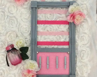 Pretty in Pink Bow Holder