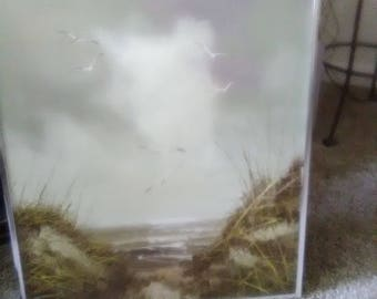 W.Alters oil canvas/ Sand Dune Picture