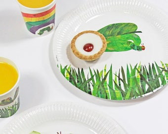 12 The Very Hungry Caterpillar Party Plates, Paper Plates, 1st Birthday, Hungry Caterpillar Birthday, Christening, Butterfly