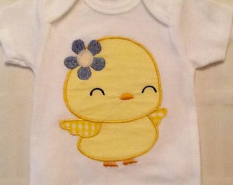 Custom Embroidered Chick Onesie