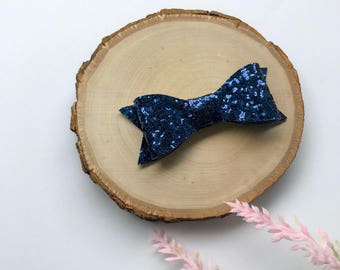 Navy GlitterBow, Blue Glitter Bow