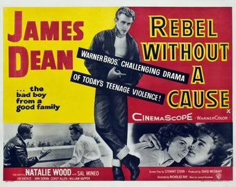 Rebel Without a cause James Dean, Nathalie Wood, size A2