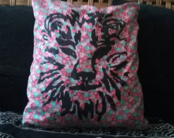 Handcrafted Lion pillow