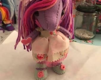 Cute lilac unicorn.