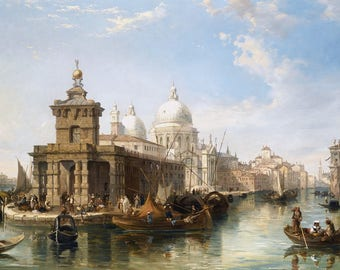 The Church of Salute Venice Painting by Edward Pritchett Art Print Reproduction
